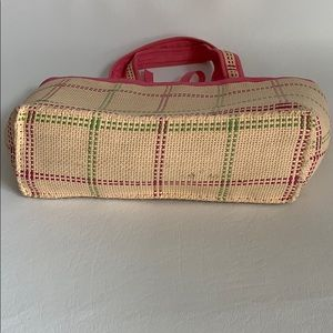 Ralph Lauren Bags - Small, straw, pink/green tote.